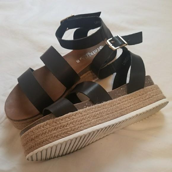 Platform Black Sandals Dsw